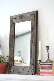 rustic wood framed mirrors. Crystal Framed Mirror Small Wood Wall Reclaimed Within Rustic Mirrors E