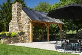 12 x 20 timber frame poolside pavilion