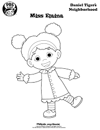 Small Picture Miss Elaina Daniel Tigers Neighborhood Coloring Page Coloring