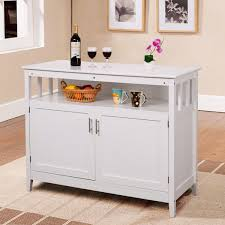 costway modern kitchen storage cabinet buffet server table sideboard dining wood white 0