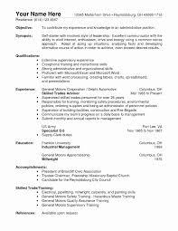 Resume Skills Example Example Of Resume Skills Fresh Resume Skills Example Hospitality 75
