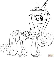 Small Picture Coloring Pages Princess Celestia Coloring Page Free Printable
