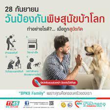 วันป้องกันพิษสุนัขบ้าโลก🐶 28 กันยายน . ตื่นตัว รู้ทัน ป้องกัน พิษสุนัขบ้า  ถูกสุนัขกัด อย่านิ่งนอนใจ รีบมาพบแพทย์ . ทำอย่างไรดี⁉️ เมื่อถูกสนัขกัด 1.  💦ล้างแผลทันที ล้างแผลด้วยน้ำสะอาดและสบู่หลายๆครั้ง โดยให้น้ำไหลผ่าน 2.  💊ใส่ยาฆ่าเชื้อ เช็ดแผลให้แห้ง ...