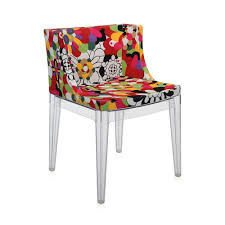 buy kartell mademoiselle 'a la mode' transparent chair  vevey red
