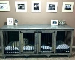 dog crate end table dog crate console table double dog crate furniture pet crate end table