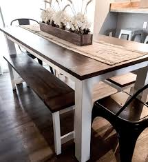 Diy Farmhouse Table Plans With Benches Woodworking Plans Etsy
