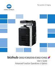 If a previous version of the software had been installed, windows might have cached the old desktop icon in the windows cache. Konica Minolta Bizhub C652 User Manual Pdf Download Manualslib