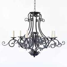 french country iron chandelier with scroll arms