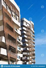 Residential Timber Design Timber Cladding Detail On Modern Apartment Blocks Stock