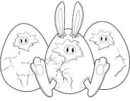 Kleurplaat Vrolijk Pasen Er Zit Geen Kuiken In De Eieren Maar Een