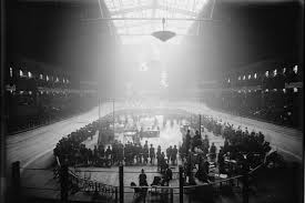 madison square garden during the six day bike race c 1900 photo library of congress lc dig ggbain 01531