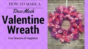 simple valentines wreath afforable deco mesh wreath how to make a simple valentines wreath you