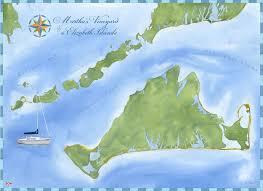 Marthas Vineyard And Elizabeth Islands Nautical Chart Wall Art
