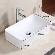 details about square round bowl ceramic bathroom faucet vessel sink basin vanity popup drain
