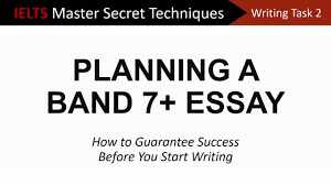 ielts writing task planning a band essay