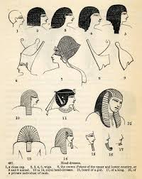 Ancient Egyptian Hair Style 1854 woodcut ancient egyptian gold beard wigs royal headdress 2802 by wearticles.com