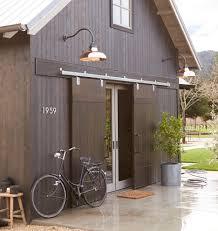 Carson Gooseneck Wall Mount Sliding Door And Barn Doors - Exterior barn lighting