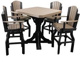 Bar Table And Chairs Set Bar Table Set W Swivel Barchairs Polywood Dutch Haus Custom