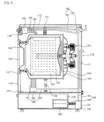 washing machine drawing. patent drawing washing machine v