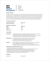 medical administration resume examples sample medical receptionist resume 6 examples in word pdf