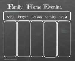 Family Home Evening Chart Maintaining Motherhood