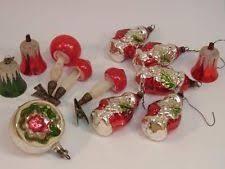 Alter Christbaumschmuck Glas Figuren Glocken Pilze