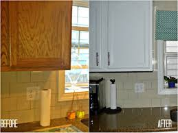 painting kitchen cabinets diy painted before and after amys office kitchens cleaning wood paint inside not
