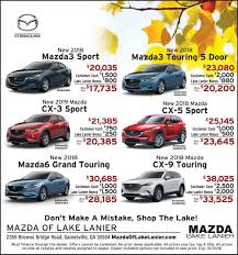 internet specials at mazda of lake lanier