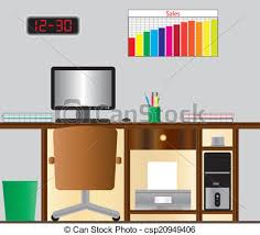 computer desk clipart.  Computer Computer Desk  Csp20949406 And Clipart P