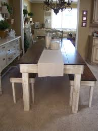 Rustic Homemade Farm Style Dining Room Table With Benches Funky - Rustic farmhouse dining room tables