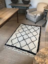 vintage moroccan boucherouite rag rug emily s house london