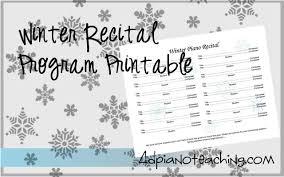 Christmas Recital Program Free Printable Piano Recital
