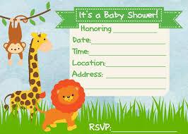 Baby Shower Invitation Jungle Theme Frugal Fanatic