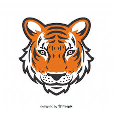 free vector tiger face background