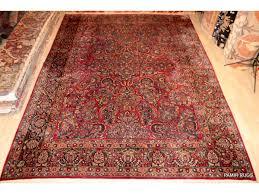 large vintage persian sarouk 10u0027 x 14u0027 rug red floral color 10 x 14 rug a97
