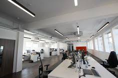 contemporary office lighting. 299 Lighting Supplied Slim Linear LED For An Office Refurbishment In Bristol Contemporary