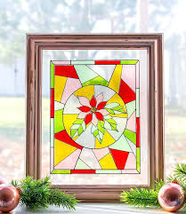 faux stained glass make a faux stained glass window out of transpa glitter vinyl faux stained