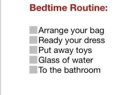 Bedtime Chart For Ages Sample Daily Routine Chart For Children