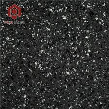 starlight sparkle dark black quartz tile countertop