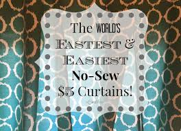 Diy No Sew Curtains The Worlds Fastest Easiest No Sew 5 Curtains