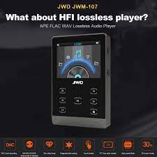 JWD 16 GB BT MP3 Çalar Metal HiFi Müzik Çalar DAC APE FLAC WAV Loseless Ses  Bluetooth Çalar Dokunmatik Düğme w/TF Kart Yuvası Yeni|MP3 Oynatıcı