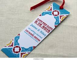 bookmark save the date mexican tile wedding save the date bookmark talavera wedding
