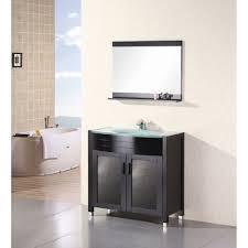 design element waterfall 36 bathroom vanity espresso free modern bathroom