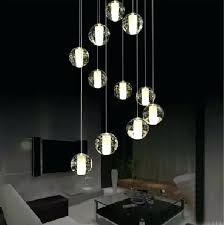 great bubble pendant light modern led crystal lamp multi linear clear glass