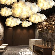 cloud lighting fixtures. White Clouds Hanging Lights Cotton Floating Cloud Droplight Modern Pendant Light Fixture Home Indoor Lighting Lustres AC90V 260V-in From Fixtures R
