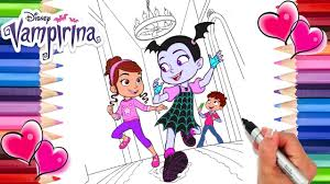 Let us know what's wrong with this preview of coloriage avec stickers vampirina by disney junior. Vampirina And Friends Coloring Page Vampirina Coloring Book Disney Junior Coloring Page Youtube