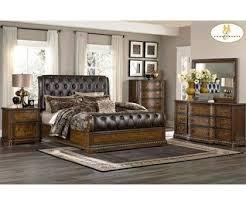 Best Dark Wood Bedroom Set Unique Homelegance Brompton Dark Brown Tufted  Leather Sleigh Bed With Than