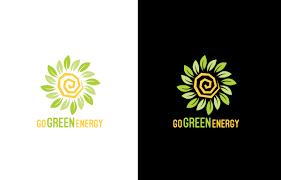 Graphic Design Green Elegant Playful Solar Energy Logo Design For Go Green