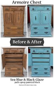 redo bedroom furniture. sea blue armoire chest with black glaze before u0026 after painting furniturefurniture redofurniture projectsbedroom redo bedroom furniture