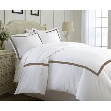 600 thread count 3 piece satin ribbon duvet set mocha king for